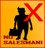 No salesman Stock Photography