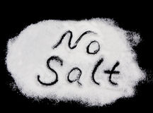 No salt. Text on salt Stock Photos