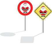 No santa Royalty Free Stock Photo