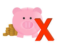 No savings concept Royalty Free Stock Photography