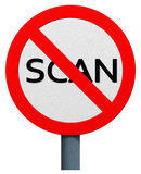 No scan sign Royalty Free Stock Images