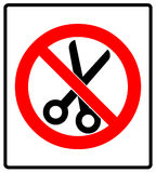 No scissors prohibition sign icon vector illustration Stock Photo