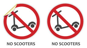 No Scooters Sign Royalty Free Stock Photos