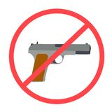 No se permite ningunas armas o las armas imagen de archivo