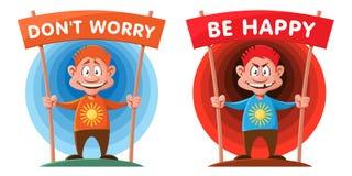 Não se preocupe Esteja feliz Imagens de Stock Royalty Free