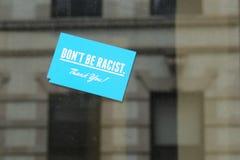 No sea racista fotos de archivo libres de regalías