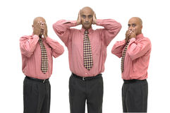 No see, no hear, no speak Stock Photography