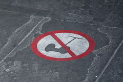No segway sign Royalty Free Stock Photo
