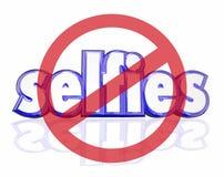 No Selfies 3d Word Self Portraits Digital Camera Phone Social Me Stock Photo