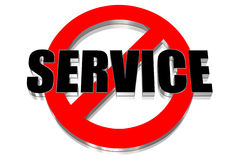 No service Stock Image