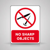 No sharp objects - vector sign. On grey Royalty Free Stock Image
