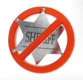 No sheriff. On a white background Stock Photos