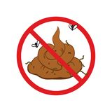 No shit cartoon comical vector sign Royalty Free Stock Images