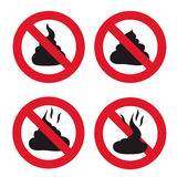 No Shit sign icon. Royalty Free Stock Photos