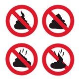 No Shit sign icon. Royalty Free Stock Photos