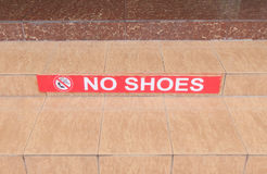 No shoes Royalty Free Stock Photography