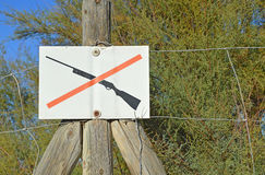 No Shooting Gun Sign Royalty Free Stock Photo