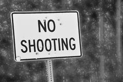 No Shooting sign Stock Photography