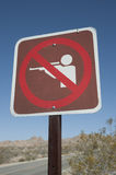 No shooting sign Royalty Free Stock Photos
