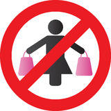 No Shopping Royalty Free Stock Photo