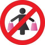 No Shopping royalty free stock photo