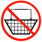 No shopping baskets Royalty Free Stock Photo