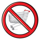 No shopping carts allowed Royalty Free Stock Photos