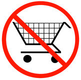 No shopping carts allowed Royalty Free Stock Images