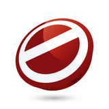 NO Sign. A 3D illustration of a 'NO' sign, isolated on a white background vector illustration