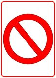 No Sign. Red no sign for forbidden signs Stock Photography