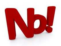 No sign. An illustration of the interjection 'no' with an exclamation mark Stock Images