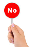 No Sign In Hand Royalty Free Stock Image