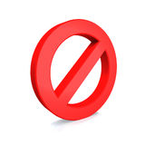 No Sign , isolated on white background Royalty Free Stock Image
