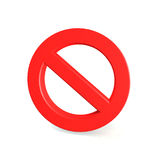 No Sign , isolated on white background Royalty Free Stock Images