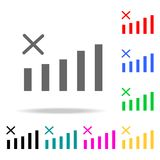 No Signal mobile web Icon. Elements in multi colored icons for mobile concept and web apps. Icons for website design and developme Royalty Free Stock Images