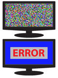 No signal,no data,crash screen on monitor display Royalty Free Stock Photos