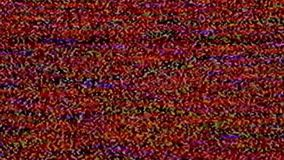 No signal, television static noise. No signal on TV, television static noise stock video footage