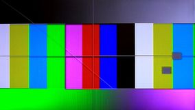 No signal on TV, television static noise. No signal on TV, the television static noise stock video