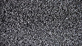No signal on TV, television static noise. The television static noise, interference stock footage