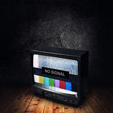 No Signal on TV Royalty Free Stock Photos