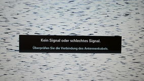 No signal or weak signal - message in holland language,. Modern television technology stock footage