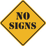 No signs sign Royalty Free Stock Photo