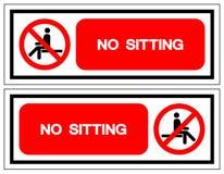 No Sitting Symbol Sign, Vector Illustration, Isolate On White Background Label .EPS10