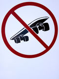 No Skateboarding. Close up of a sign that says no skateboarding Stock Image