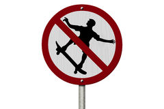 No Skateboarding Allowed Sign Royalty Free Stock Photography