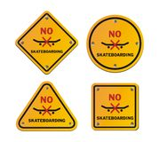 No skateboarding roadsigns Stock Photos