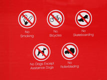 No skateboarding  sign Stock Image