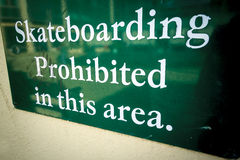 No skateboarding Stock Image