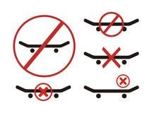 No skateboarding symbol Royalty Free Stock Photos