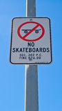 No Skateboards Stock Images